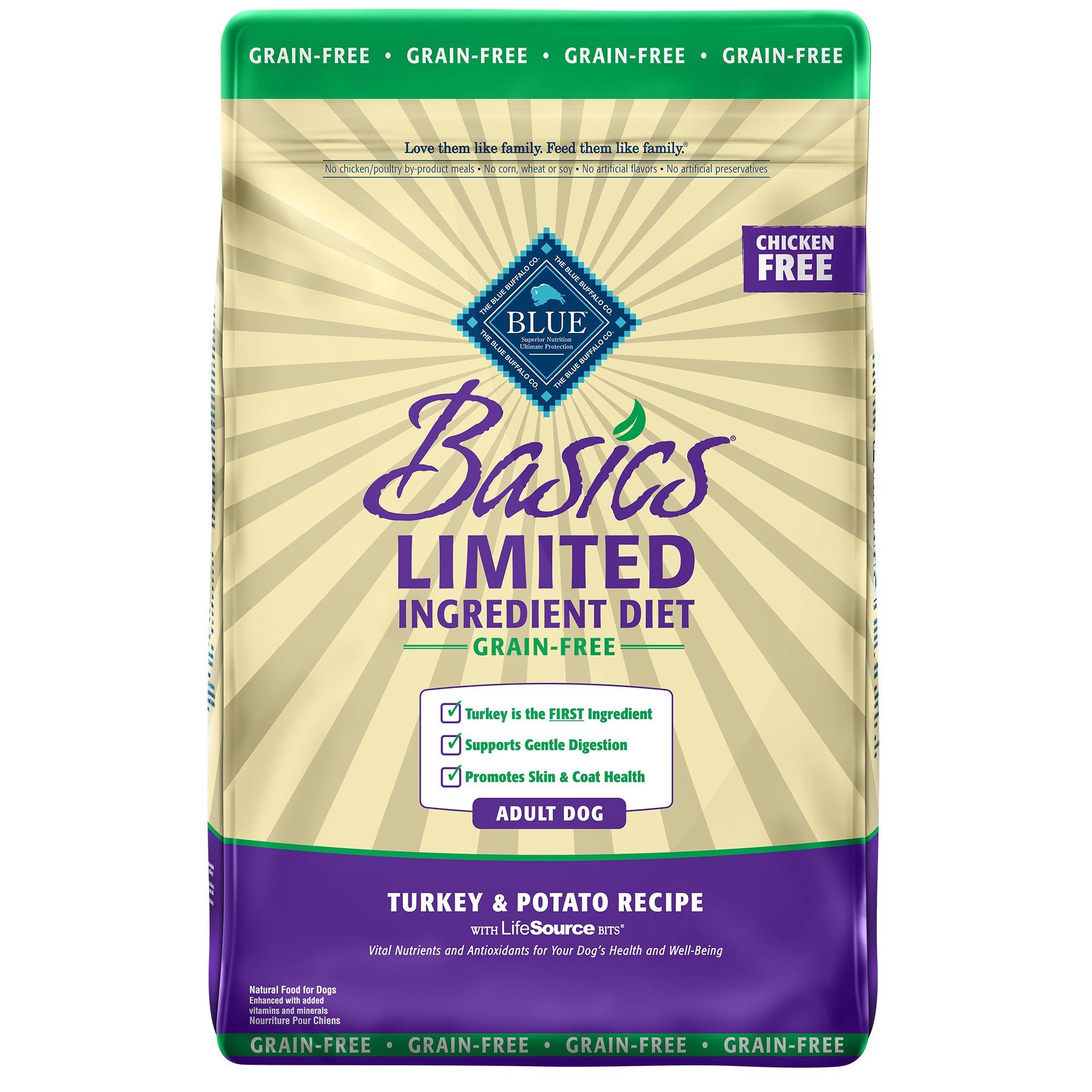 Blue Buffalo Blue Basics Adult Grain-Free Turkey & Potato Recipe Dry ...