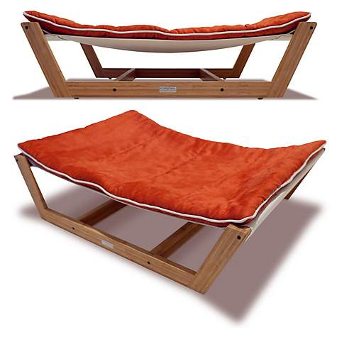Pet Lounge Studios Bambu Nautical Hammock Pet Bed in Orange