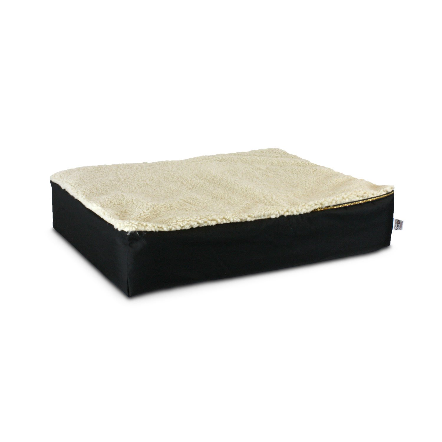 Snoozer Super Orthopedic Lounger in Black & Cream
