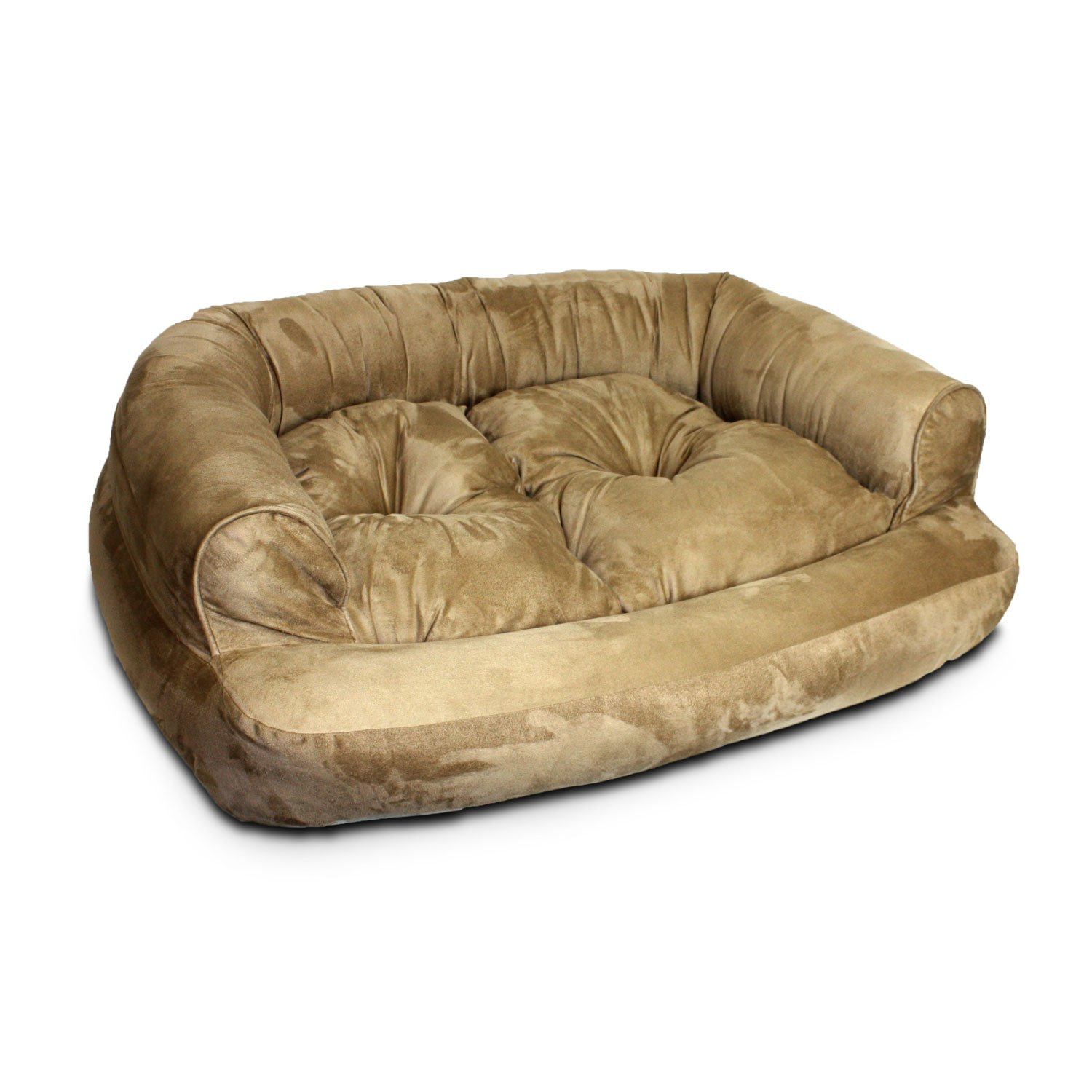 Overstuffed sofa - Snoozer Luxury Overstuffed Sofa In Peat