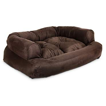 Snoozer Luxury Overstuffed Sofa in Hot Fudge
