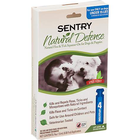 Sentry Natural Defense Flea & Tick Squeeze-On For Dogs & Puppies