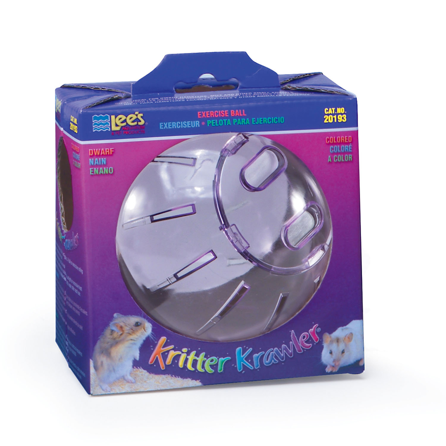 Lees Kritter Krawler Colored Small Animal Ball