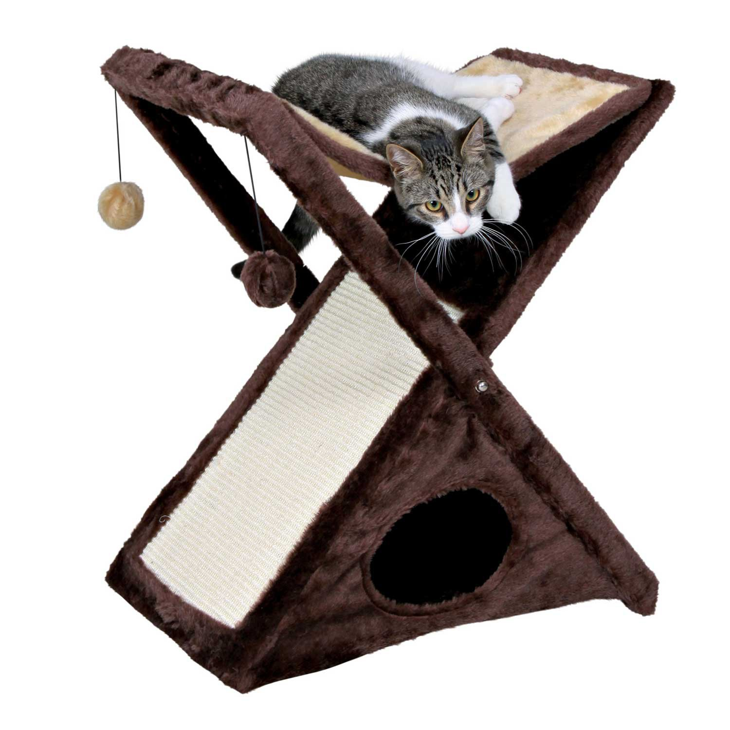 Trixie Miguel Cat Scratching Tower in Beige & Brown | Petco | Tuggl