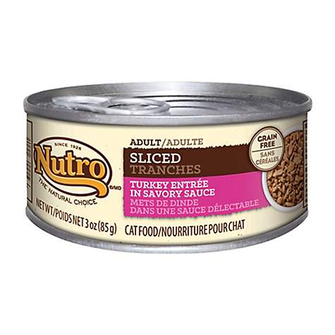 NUTRO Sliced Turkey Entree in Savory Sauce Canned Adult Wet Cat Food