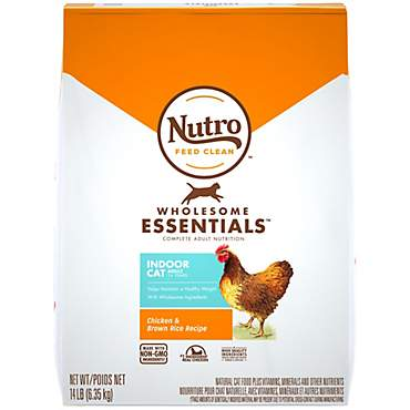 Nutro Wholesome Essentials Indoor Farm-Raised Chicken & Brown Rice Recipe Dry Adult Cat Food