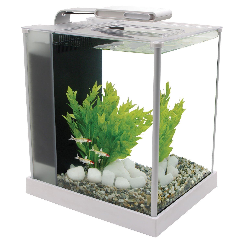 Fluval Spec III Aquarium Kit in White  Petco -> Aquarium Table Basse Occasion