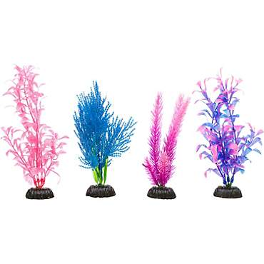 Imagitarium Colorful Plastic Aquarium Plants Foreground Value Pack