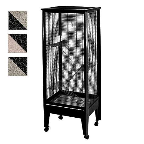 A&E Cage Company Medium 4 Level Small Animal Cage on Casters in Black