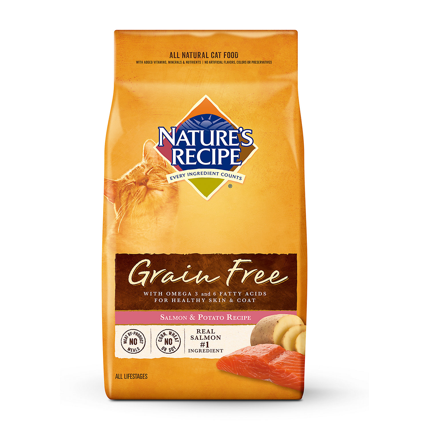 Natures Recipe Grain Free Salmon Potato Adult Cat Food