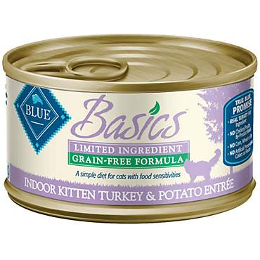 Blue Buffalo Blue Basics Kitten Grain-Free Turkey Recipe Entree Wet Cat Food
