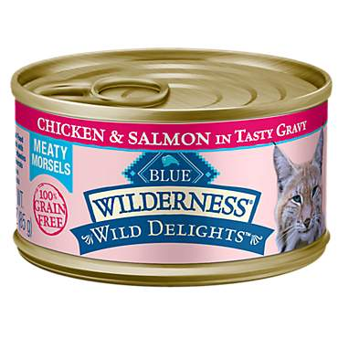 Blue Buffalo Blue Wilderness Wild Delights Chicken & Salmon Recipe Wet Cat Food
