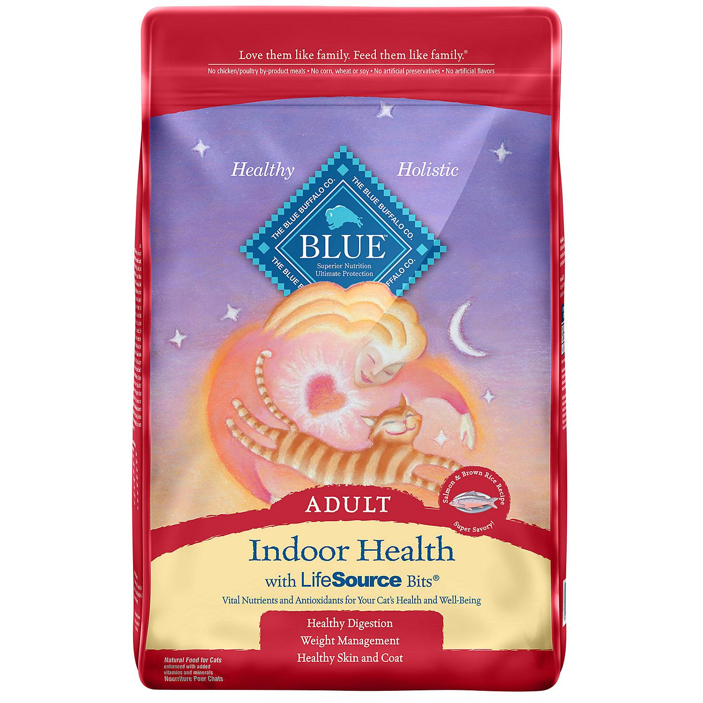 Blue Buffalo Indoor Health Salmon Rice Adult Dry Cat Food 15 Lbs.