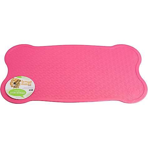 Bowlmates Pink Bone Placemat Medium Large Petco