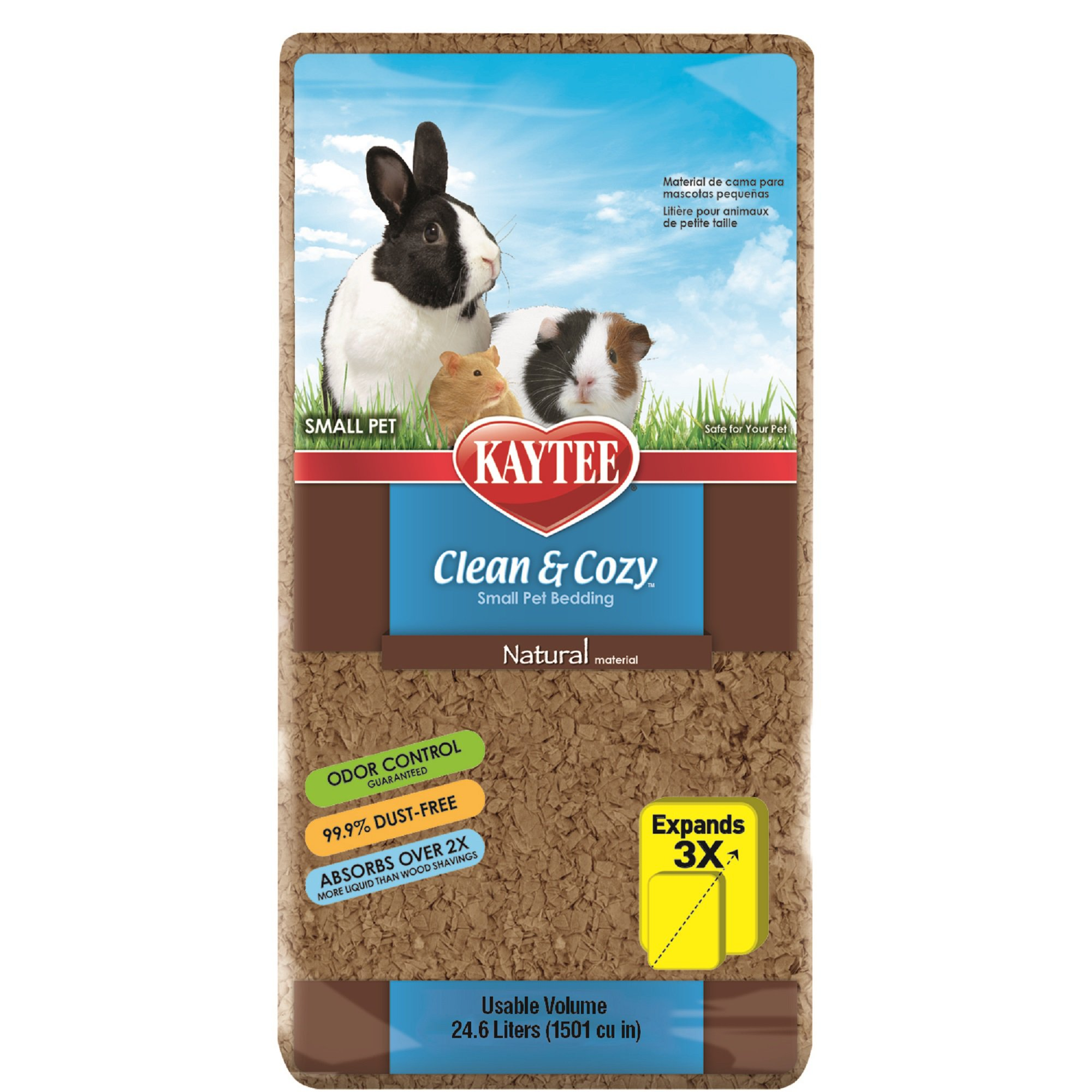 kaytee clean & cozy natural small animal bedding | petco