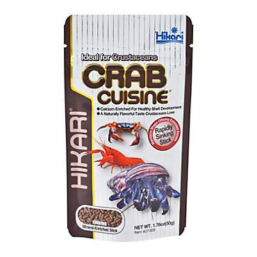 Hikari Crab Cuisine Rapidly Sinking Sticks for Bottom Feeders & Crustaceans