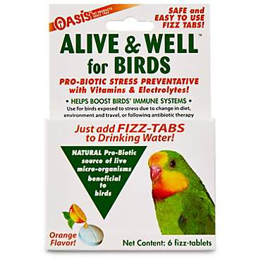Oasis Alive & Well Probiotic Bird Water Tablets