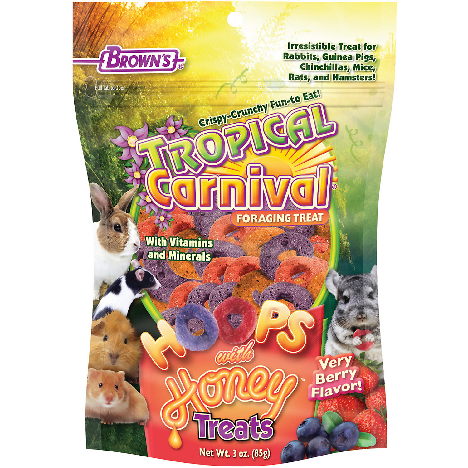 Browns Tropical Carnival Hoops Honey Treats 3 Oz.