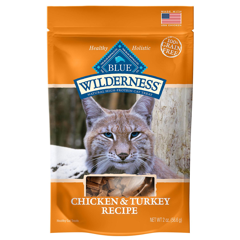 Blue Buffalo Wilderness Chicken Turkey Grain Free Cat Treats 2 Oz.