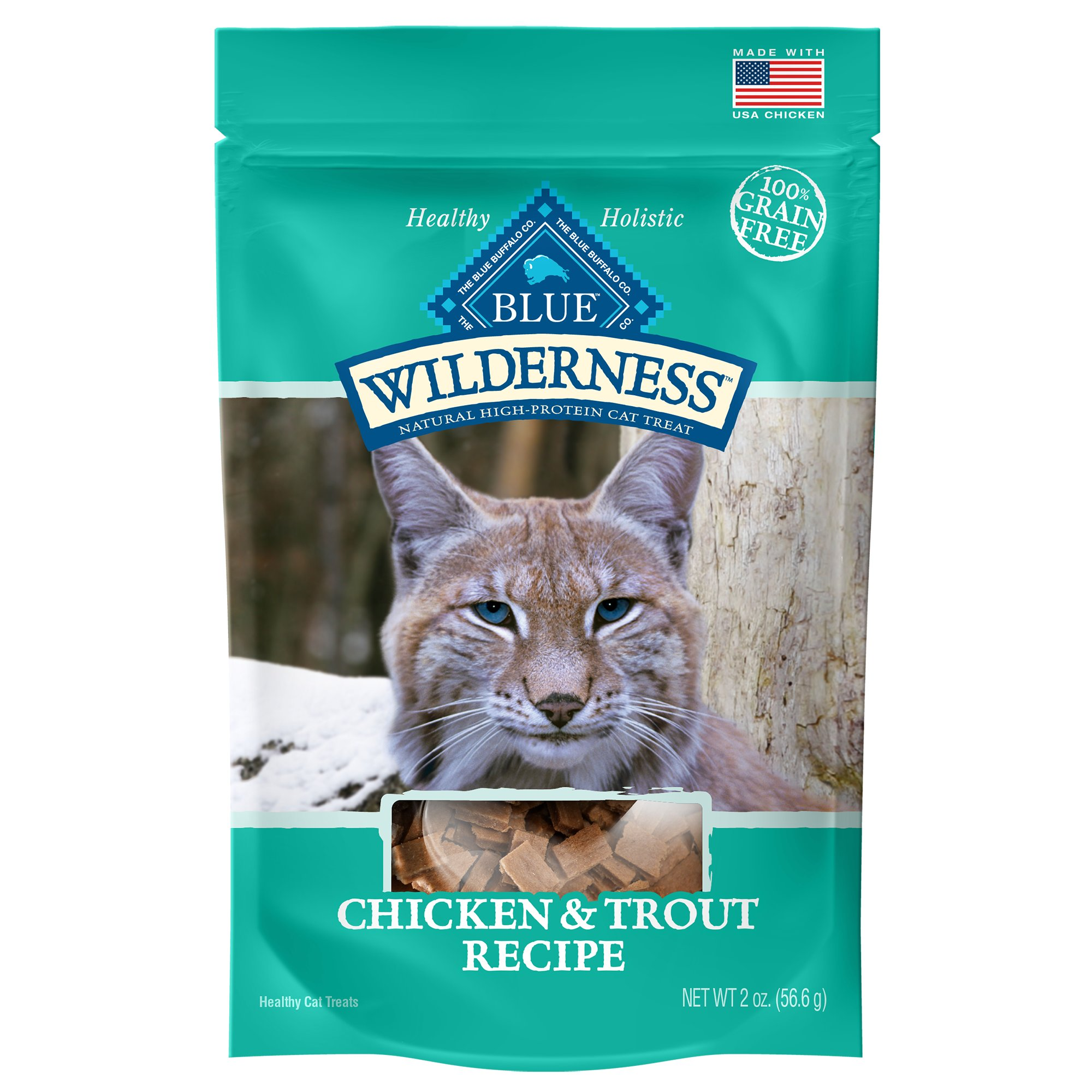 Blue Buffalo Blue Wilderness Chicken & Trout Cat Treats, 2 oz.