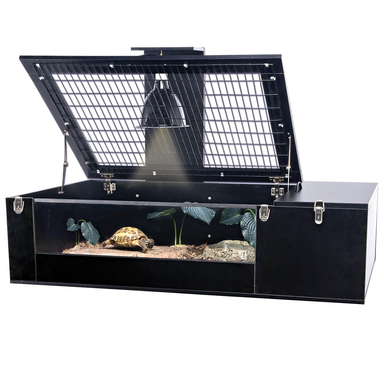 Penn Plax Reptology Tortoise Palace 29 L X 47 W X 10.75 H Black