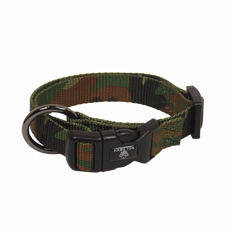 Hamilton Adjustable Nylon Dog Collar In Camouflage Print
