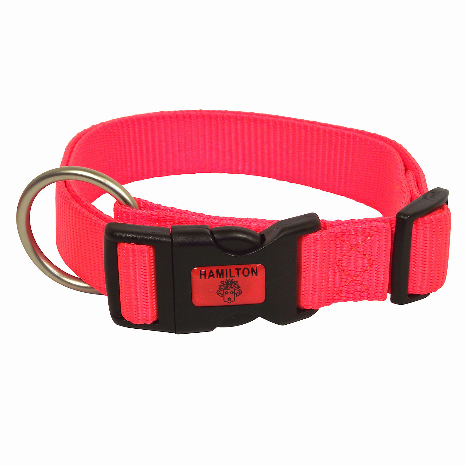 Hamilton Adjustable Nylon Dog Collar In Orange Large 16 26 L X 1 W