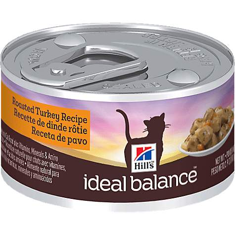 Hill's Ideal Balance Adult Roasted Turkey Recipe Canned Cat Food