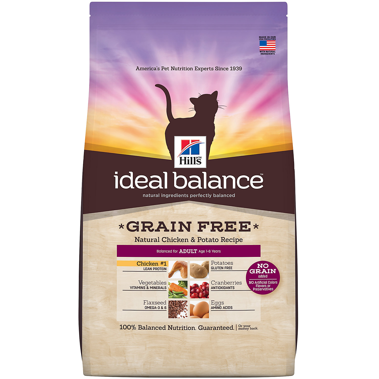 Hills Ideal Balance Grain Free Chicken And Potato Adult Cat Food 11 Lbs.