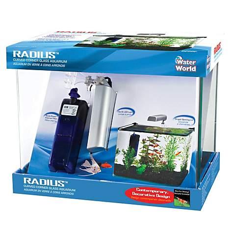 Penn plax radius curved corner glass aquarium kit petco for Petco small fish tank