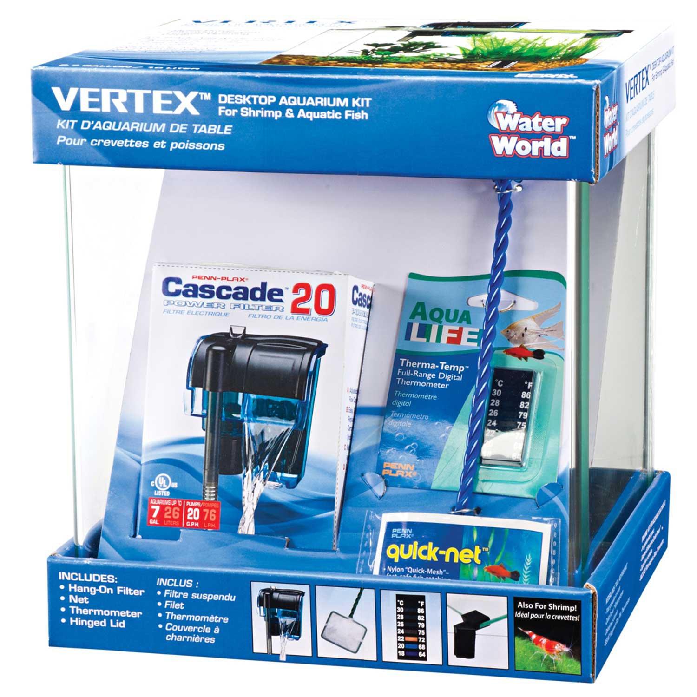 Penn plax vertex desktop aquarium kit petco for Petco fish filters