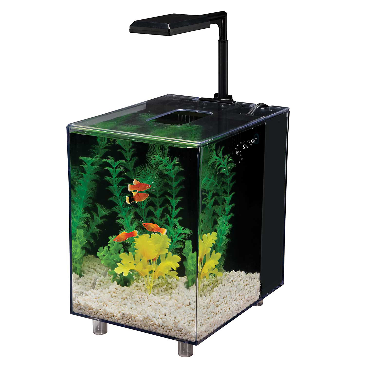 Penn Plax Prism Nano Aquarium Kit In Black 2 Gallons
