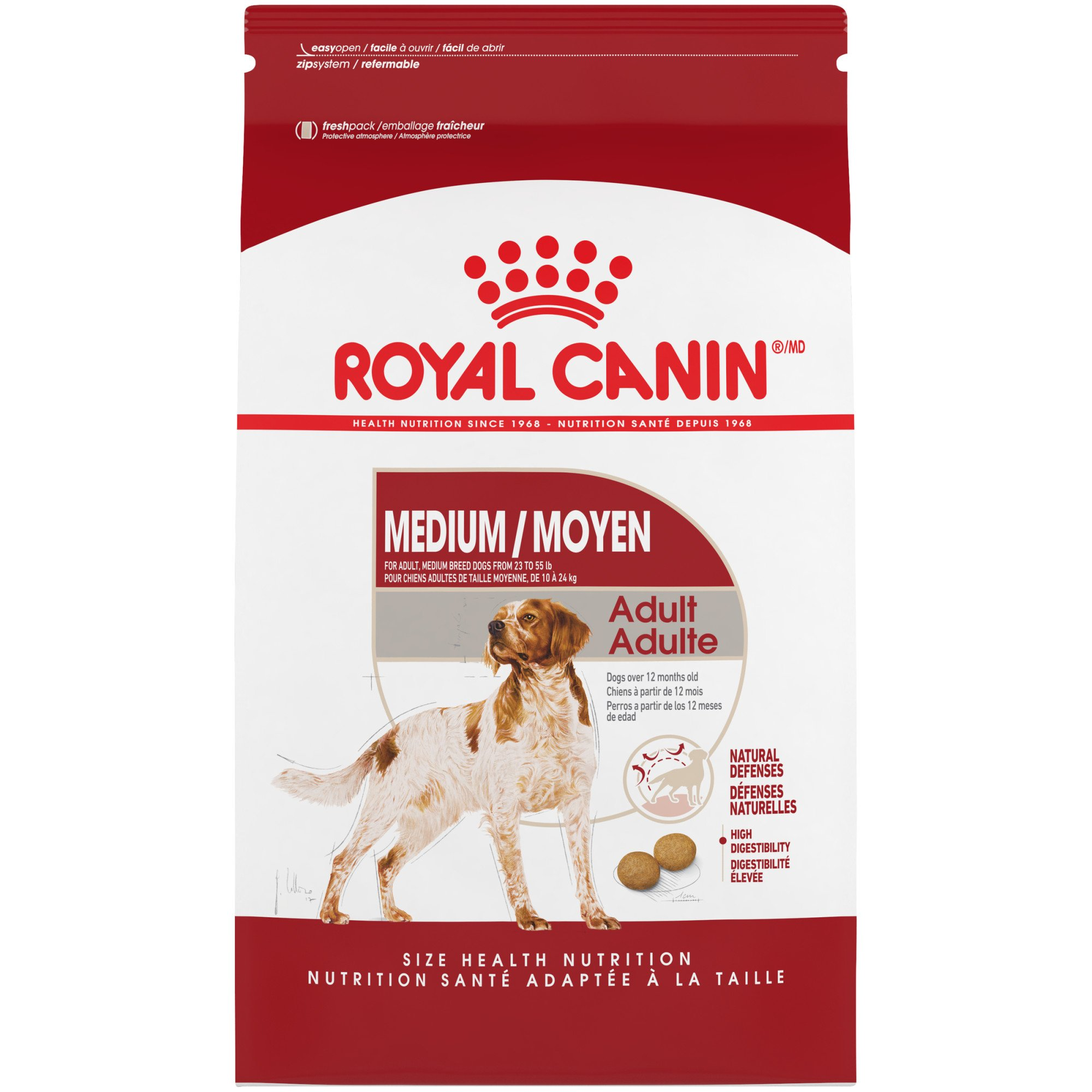 royal canin size health nutrition medium adult dry dog food petco. Black Bedroom Furniture Sets. Home Design Ideas
