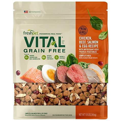 Freshpet Vital Complete Meals Chicken, Beef, Salmon & Egg Recipe for Dogs