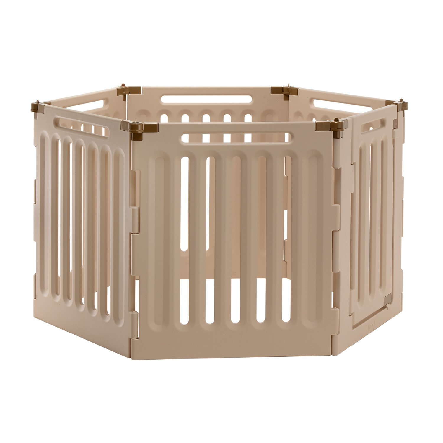 richell six panel convertible indoor outdoor play pen