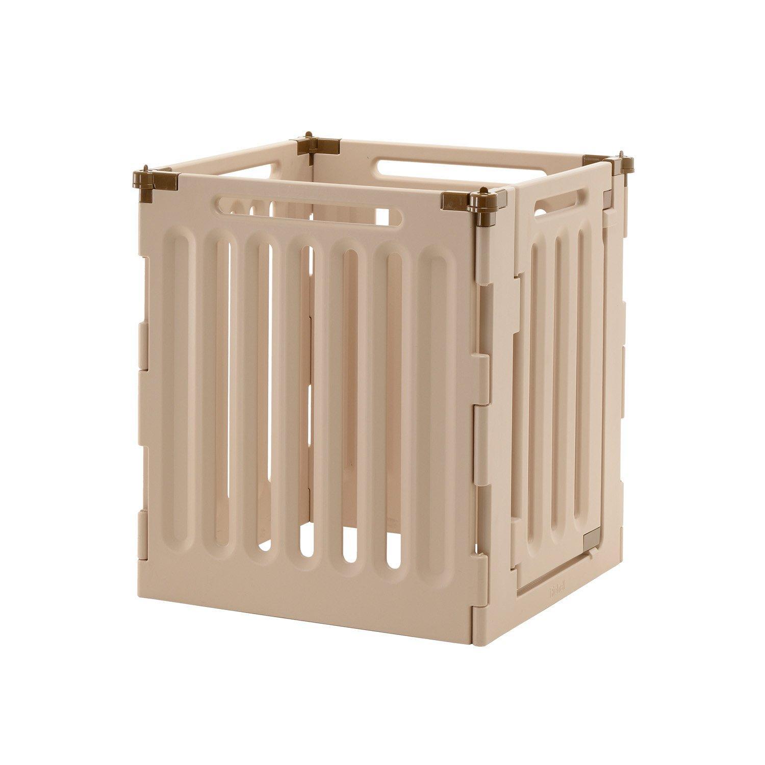 Richell Convertible Indoor Outdoor Play Pen, Four Panel, 33.1 In, Off White