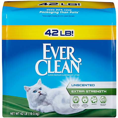 Ever Clean Unscented Extra Strength Clumping Cat Litter