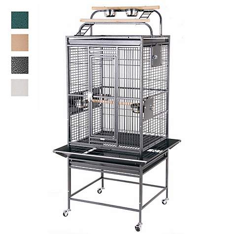 HQ Double Play Top Bird Cage in Green