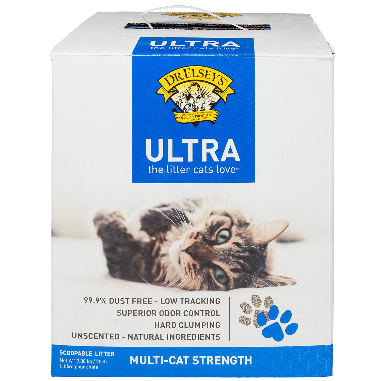 Precious Cat Dr. Elseys Ultra Scoopable Multi Cat Cat Litter 20 Lbs.