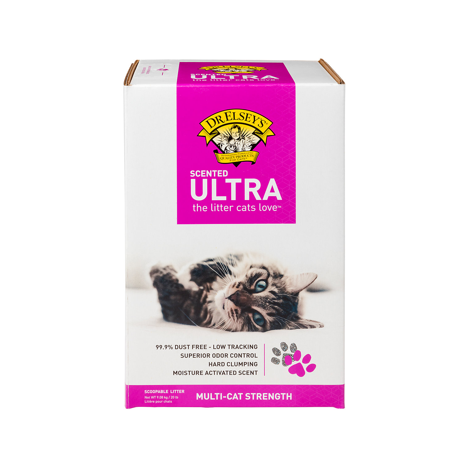 Precious Cat Dr. Elseys Ultra Scented Scoopable Multi-cat Cat Litter
