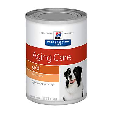 Hill's Prescription Diet g/d Aging Care Turkey Flavor Canned Dog Food