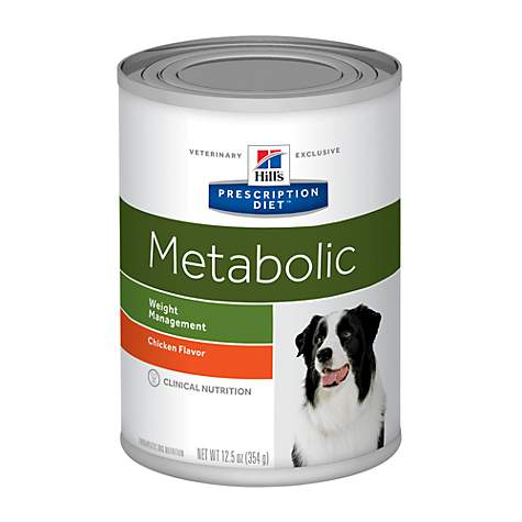 Hill's Prescription Diet Metabolic Weight Management Chicken Flavor Canned Dog Food