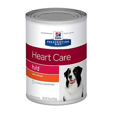 Hill's Prescription Diet h/d Heart Care with Chicken Canned Dog Food