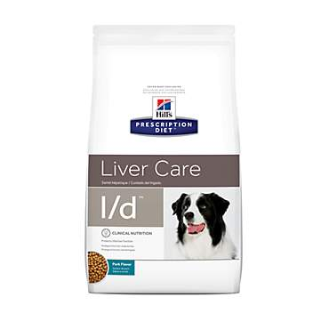 Hill's Prescription Diet l/d Liver Care Pork Flavor Dry Dog Food