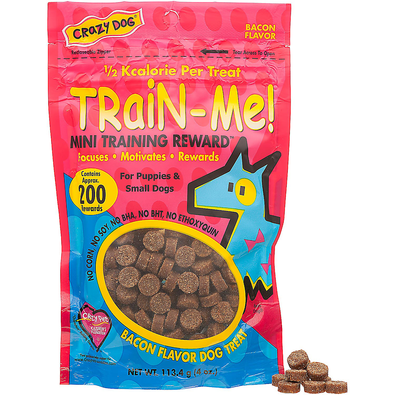 Crazy Dog Train Me Mini Training Reward Dog Treats