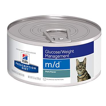 Hill's Prescription Diet m/d Glucose/Weight Management Pork Flavor Canned Cat Food