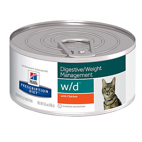 Hill's Prescription Diet w/d Digestive/Weight Management with Chicken Canned Cat Food