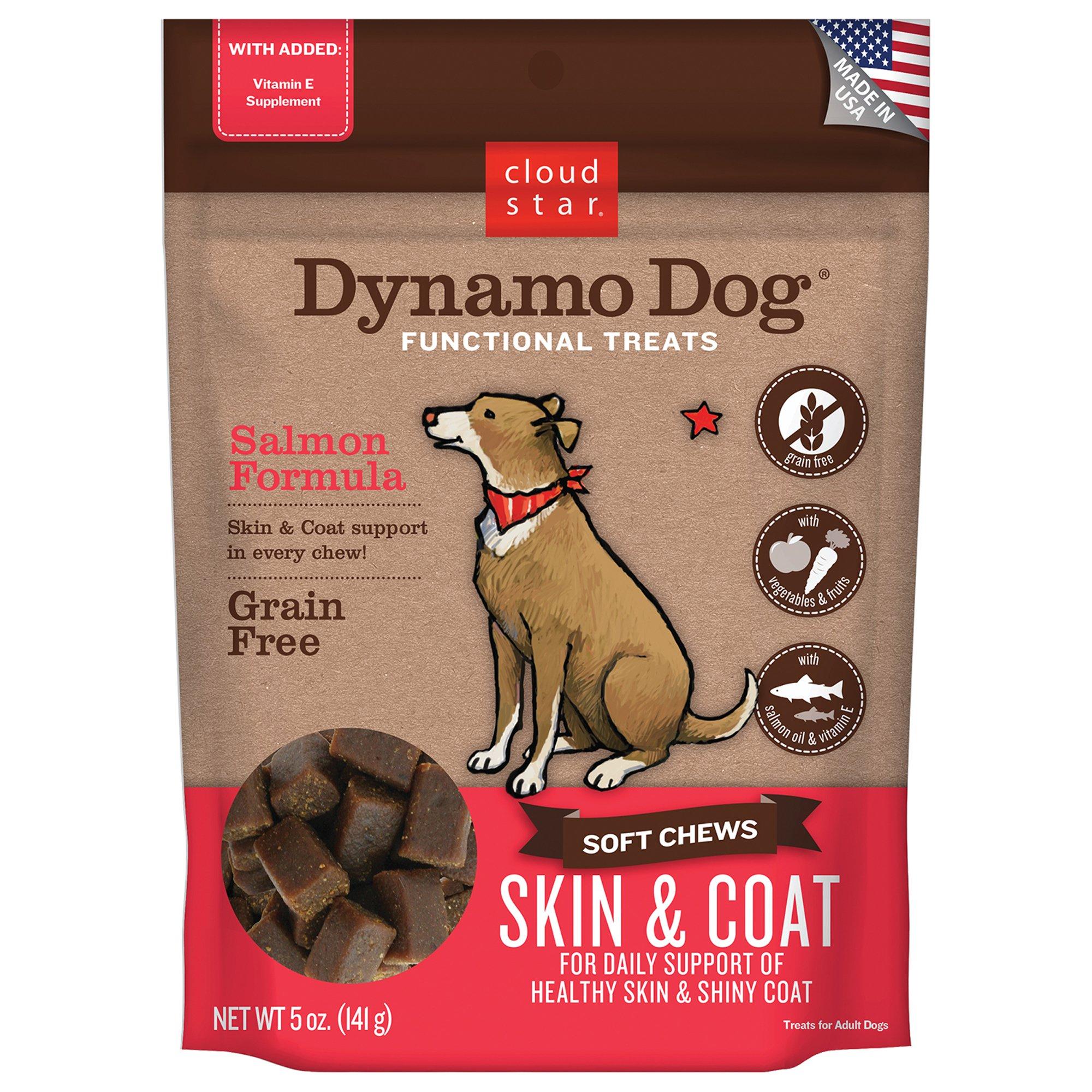 Cloud Star Dynamo Dog Skin & Coat Salmon Dog Treats