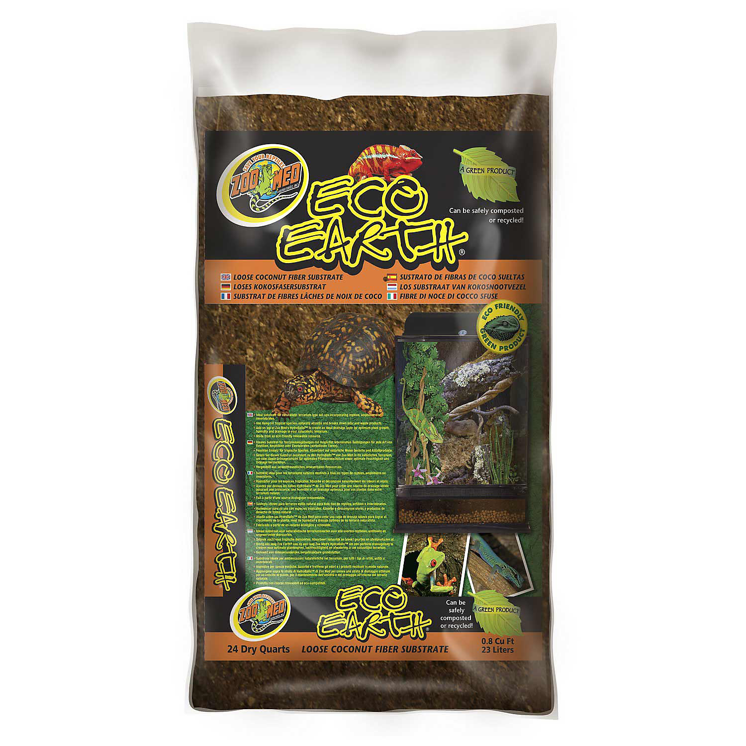 Zoo Med Eco Earth Loose Coconut Fiber Substrate 24 Qts.