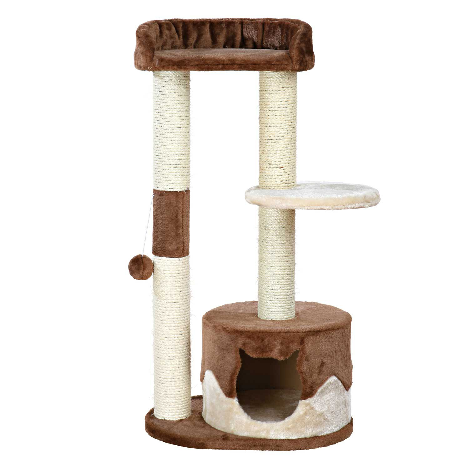 Cat Tree With Food Bowls